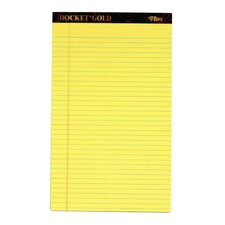60 pt. Docket Gold Perforated Legal Rule Pad (Set of 72)