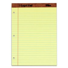 30 pt. 3 Hole Punched Perforated Legal Rule Legal Pad (Set of 72)