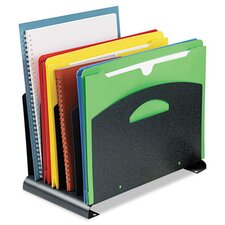 4-Compartment Vertical File Organizer with Handle