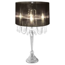 "Trendy Sheer 25.59"" H Table Lamp with Drum Shade"