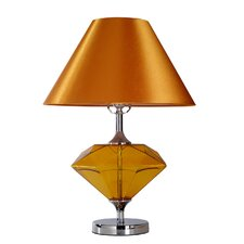 "Diamond-Shaped 21.65"" H Table Lamp with Empire Shade"