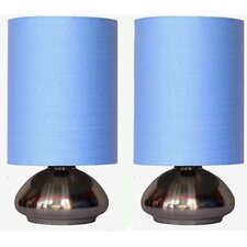"Simple Designs 	Mini Touch 9.2"" H Table Lamp with Oval Shade (Set of 2)"
