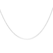 Sterling Silver 16 inches Cable Chain Necklace