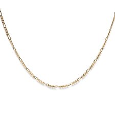 14k Gold over Silver 24 inches Figaro Chain (1.5 mm)
