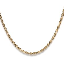 14k Gold over Silver Rope Chain (2 mm)