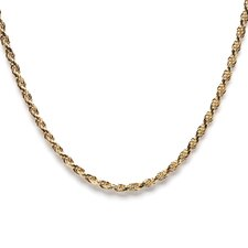 14k Gold over Silver Rope Chain (2.5 mm)