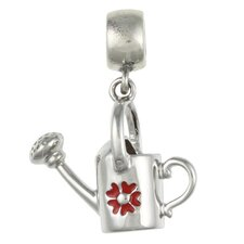 Signature Moments Sterling Silver Watering Can Charm in Red