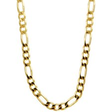 14k Gold over 4mm Silver Figaro Chain