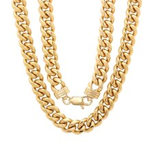 Bronze Classic Cuban Link Chain Necklace