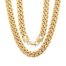 Bronze Classic Cuban Link Chain Necklace