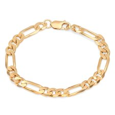 Diamond Cut Figaro Bracelet