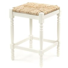 "24"" Hawthorne Counter Stool with Rush Seat in Antique White"