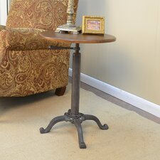 Colton Adjustable Vintage Accent Table