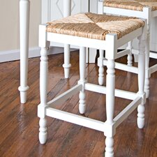"30"" Hawthorne Counter Stool with Rush Seat in Antique White"