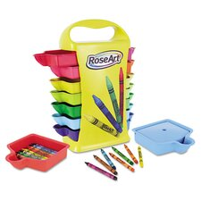 Classic Color Crayons Classroom Set with Storage Caddy