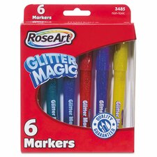 Glitter Magic Markers (6 Pack)
