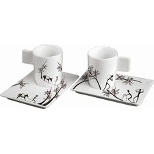 Origini Trasporto Espresso Cup and Saucer (Set of 2)