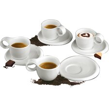 <strong>DeaGourmet</strong> Ninfea Classic Cup with Saucer (Set of 8)