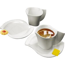 <strong>DeaGourmet</strong> Ninfea Cup with Saucer (Set of 2)