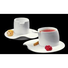 <strong>DeaGourmet</strong> Materia Breakfast Cup and Saucer (Set of 4)