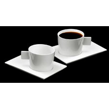 Geo Mondo American Coffee Cup and Saucer (Set of 4)
