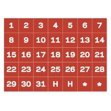 Calendar Dates Magnetic Tape