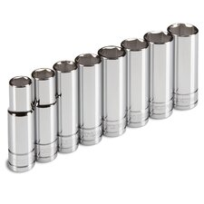 8 Piece Drive Deep Socket Set