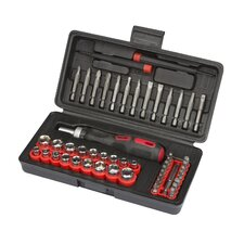 <strong>TEKTON</strong> 55 Piece Ratchet Screwdriver, Bit and Socket Set