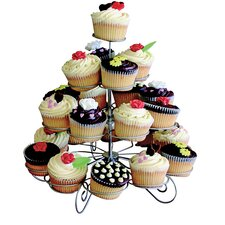 KitchenWorthy 4-Tier Designer Metal Cupcake/Muffin Stand
