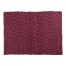 India Fuchsia/Dark Brown Area Rug