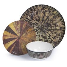 Melamine Tribal 3 Piece Dinnerware Set