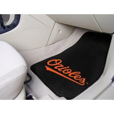 <strong>FANMATS</strong> MLB 2 Piece Novelty Carpeted Car Mats