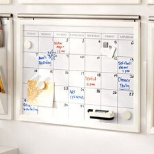 """Daily System Magnetic Calendar 1' 5.75"""" x 2' Whiteboard"""