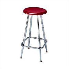 Height Adjustable Solid Plastic Stool with Footring