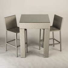 Delray 3 Piece Outdoor Dining Set