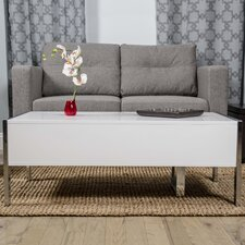 Selva White Lacquer Lift Top Slide Away Coffee Table