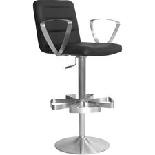 Rexx Adjustable Height Swivel Bar Stool with Cushion