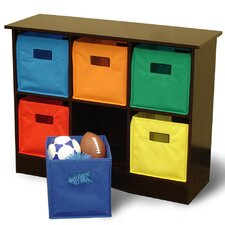 RiverRidge Kids 6 Bin Storage Cabinet
