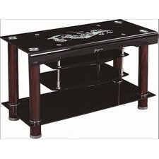 "<strong>Hodedah</strong> Glass 39"" TV Stand"