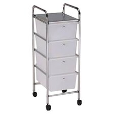 <strong>Hodedah</strong> 4 Drawer Storage Cart