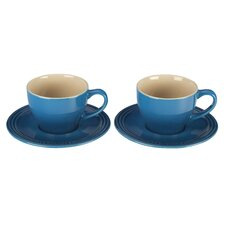 7 oz. Cappuccino Cup and Saucer (Set of 2)