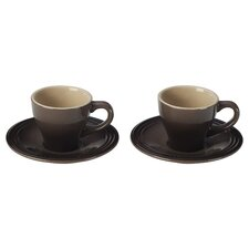 2 oz. Espresso Cup and Saucer (Set of 2)