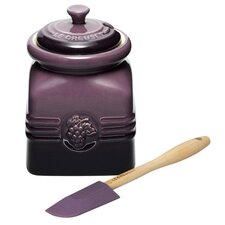 <strong>Le Creuset</strong> 16 oz. Grape Jam Jar with Silicone Spreader