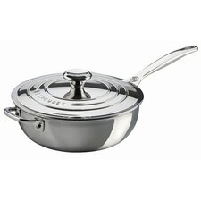 Stainless Steel 3.5-qt. Saucier Pan with Lid