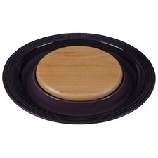 Round Platter with Cutting Board Insert