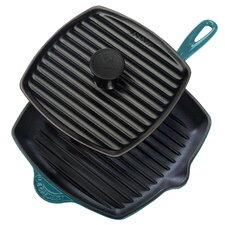 "Enameled Cast Iron 10"" Grill Pan Set"