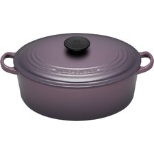 0Cast Iron Oval French Oven