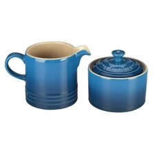 Stoneware Sugar and Creamer Set
