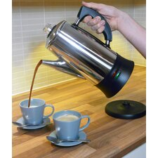 12 Cup Cordless Coffee Percolator in Stainless Steel