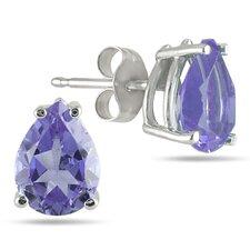 Pear Cut Gemstone Stud Earrings